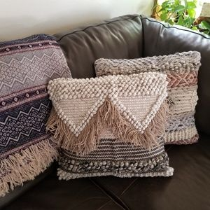 Hand Woven Natural Fringe pillow cover